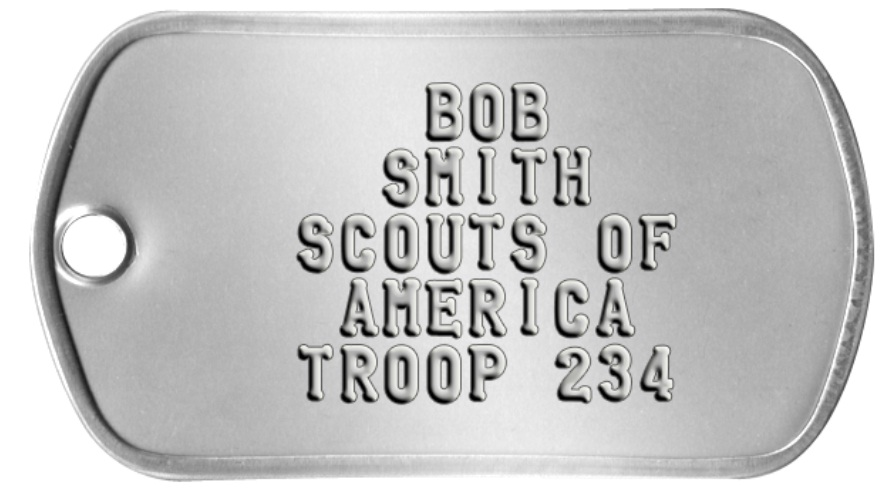 Boy Scout Dog Tag